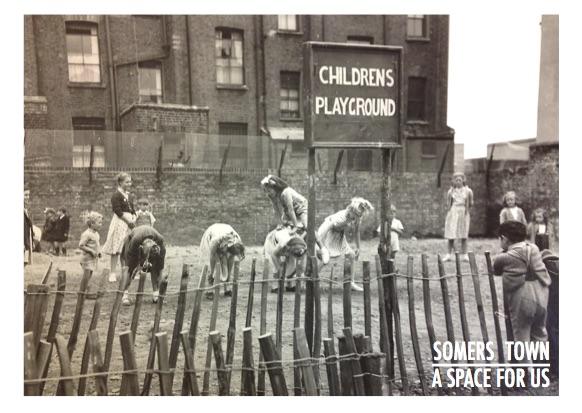 Playground in 1930 slum.