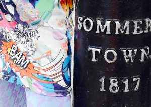 Image of Bollard with words Sommers Town 1817 on it.