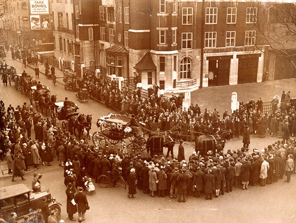 Funeral in 1930.