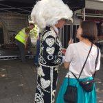 A Pearlie Queen in hat.