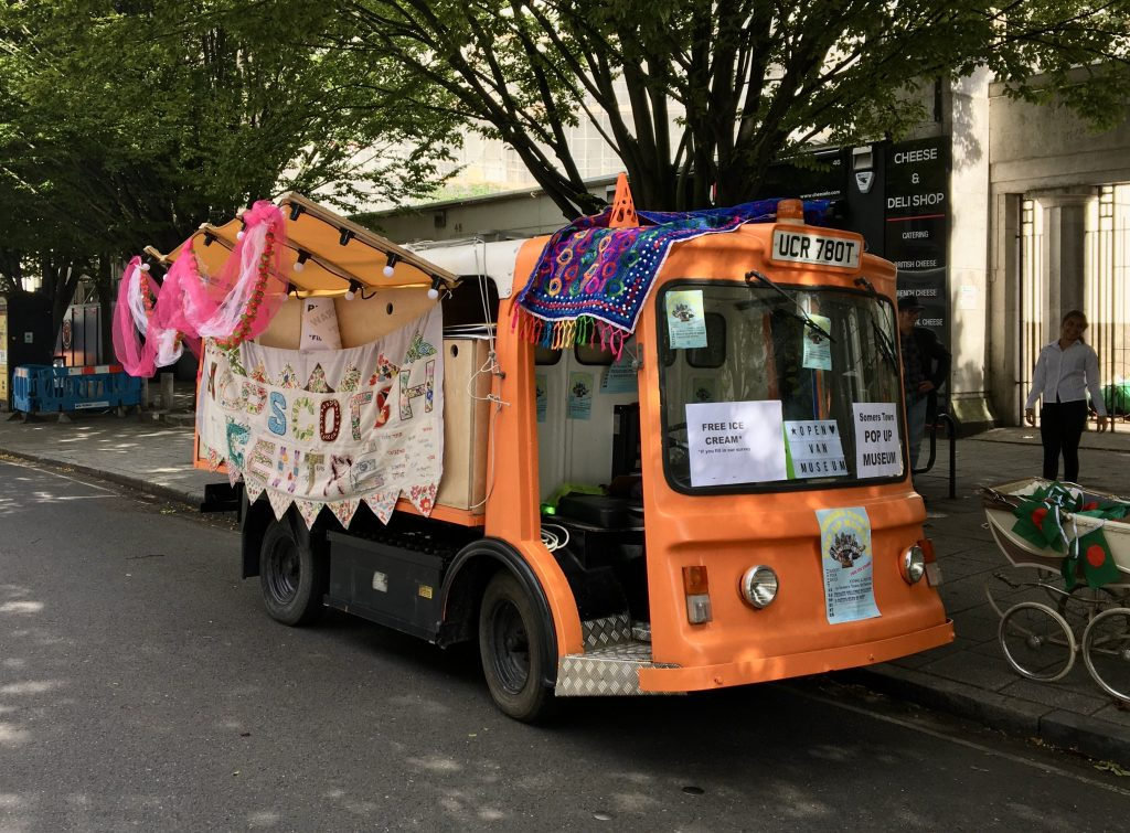 Decorated milk float.