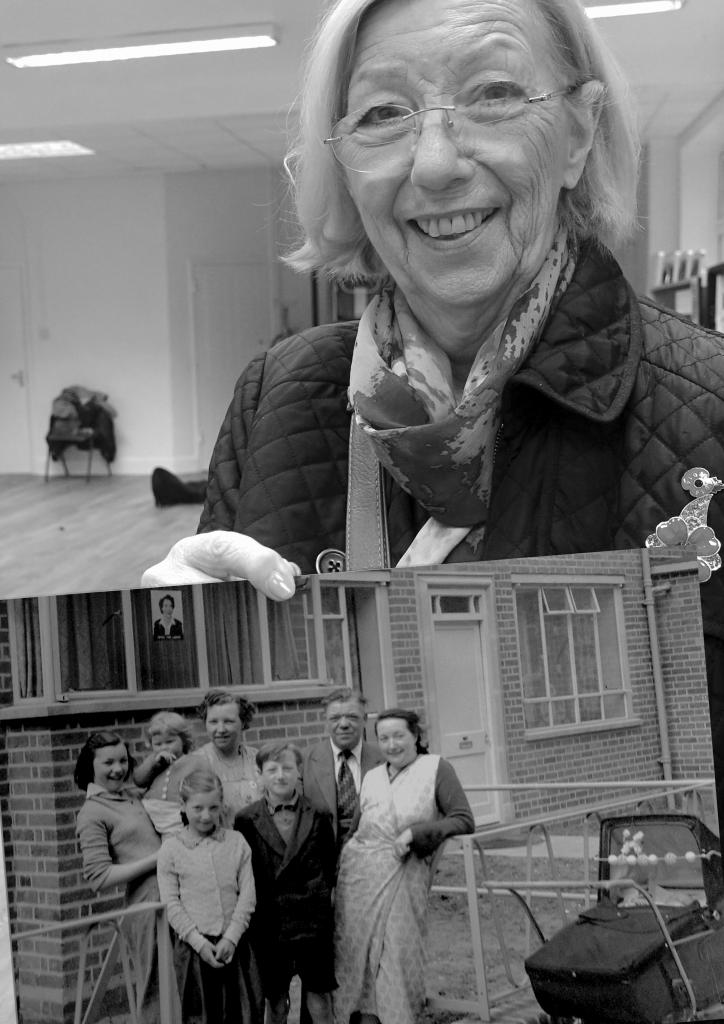 older Woman holding photo