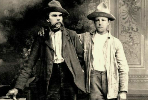 Two men in the 1800s.