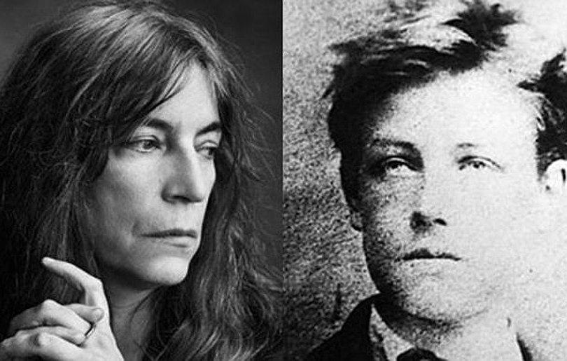 Patti Smith face and Rimbaud