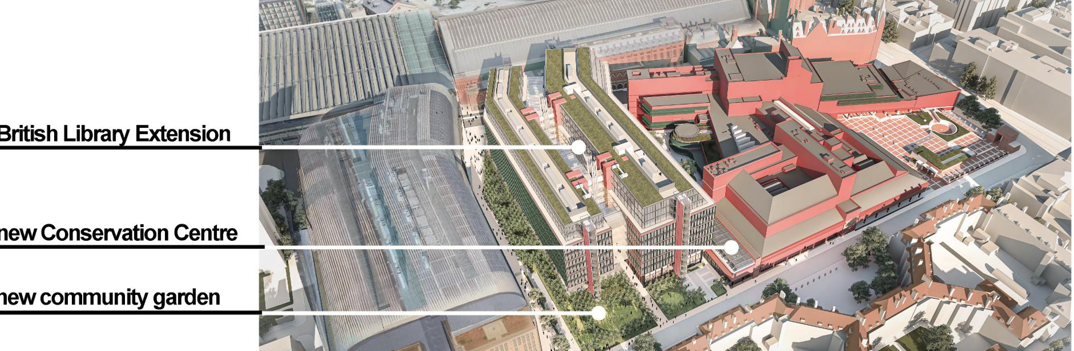 Aerial view of British Library