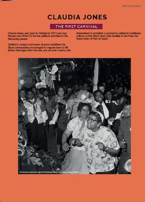 Claudia Jones image of carnival in 1950s